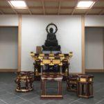 お堂に納入した寺院用具です。中央には平安時代から歴史を重ねてきた立派な仏像が安置されています。